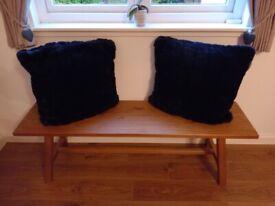 Large navy cushions