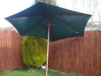 Large wooden parasol