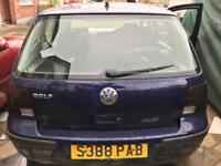 VW Golf 1.6 SR for spares
