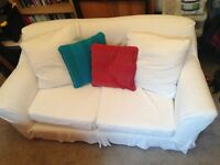 White 2 seater Ikea sofa
