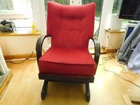 VINTAGE ROCKING CHAIR IN IMMACUALTE CONDITION IS ULTRA COMFORTABLE CAN DELIVER