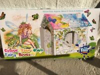 Colour Your Own Fairy House BRAND NEW IN BOX