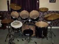 Drum Kit - Great condition - Mapex M-Birch with Paiste cymbals