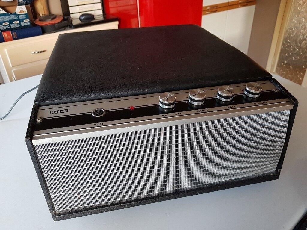 Vintage 1960s Itt Kb Vinyl Record Player Bsr 4 Speed Deck