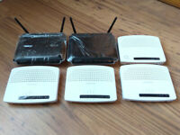 Job Lot of 6x Wireless-N Wifi Routers NO PSUs