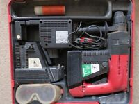 Hammer drill HILTI TE10A 36V SDS 2x battery,charger & case