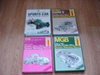 Four Haynes Classic Car Workshop Manuals