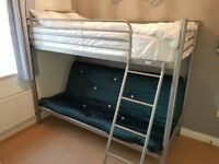 High sleeper single bed with sette.