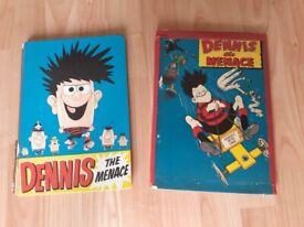 vintage dennis the menace annuals 1958 / 62