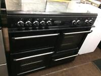 Black leisure 100cm gas cooker grill & double ovens good condition with guarantee