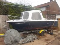 sea fishing boat project outboard and trailer