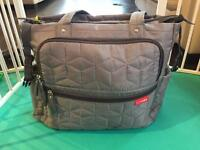 Skip Hop Grey Forma Changing Bag Almost New