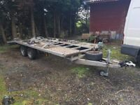 Car trailer car transporter built by broughtons 3500kg 3.5 ton not iforwilliams galvanised