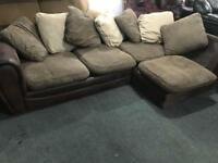 🎅 fabric Corner Sofa and matching armchair
