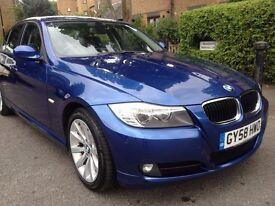 BMW 318d 2.0 DIESEL , manual 6 gear speed ,( STOP-START) 58 2008 facelift , blue, long M.O.T ,