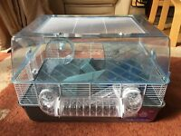 Large Plastic Hamster Home and free Metal Play Pen