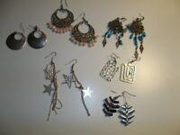 6 Pairs of Earrings - Hanging Earrings Joblot