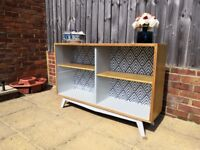 Scandi Style Restored And Upcycled Retro Vintage Bookcase Display Unit Sideboard