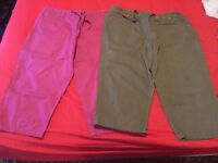 Cotton Traders Ladies Three Quarter Trousers (Size 20)