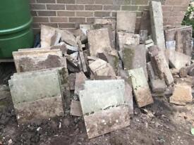 Selection of garden / rockery Slabs