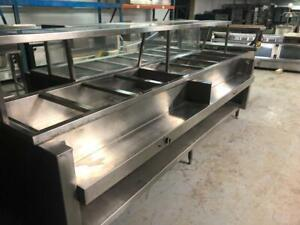 8 wells used hot steam table