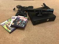 Xbox 360 Kinect plus 3 games