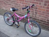 Apollo Star Girls Bike, 20 Inch Wheels, Suit 7-9 Years Old, Can Deliver