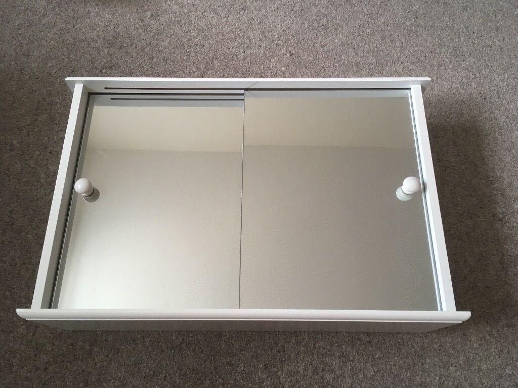 Argos Home Sliding Door Bathroom Cabinet White In Uxbridge