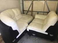 White leather corner sofa £150 ono offers welcome