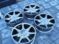 "Ford ""17 Escort Sierra Cosworth RS500 RS 7 SPOKE Softline 4x108 S1 Alloy wheels chrome"