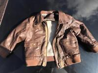 Boys next brown faux leather jacket aged 2-3 years