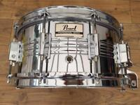 Vintage Pearl M-514D 14x6.5 Chrome Over Steel Snare Drum