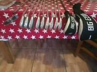 Full set of R/H golf clubs
