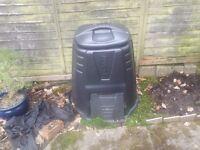 Black plastic compost bin