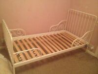 Ikea white bed