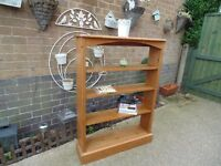 SOLID PINE FARMHOUSE BOOKCASE ALL SOLID AND VERY HEAVY IN EXCELLENT CONDITION 89/23/123 cm £45