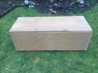 Wooden Ottoman/Storage Trunk For Sale