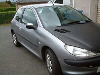 02 peugeot 206 petrol 1124cc mot feb needs tidy up priced to sell 265 (car in newry)