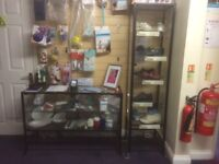 BLACK GLASS RETAIL CABINETS FOR SALE
