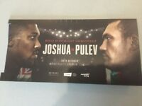 1-6 ANTHONY JOSHUA FLOOR SEATS v Kubrat Pulev 8th ROW FACE VALUE 28th October Cardiff