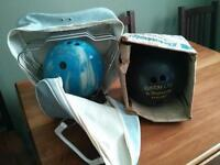 For sale 2 bowling balls, one with carrying case