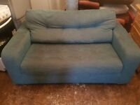 Sofa bed in fabric blue used in Good condition