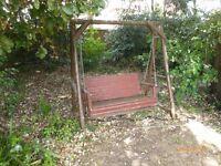 Garden swing hammock --wooden