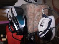 3 steam irons 1. russell hobbs 1 morphy richards iron 1 tefal pro expressing
