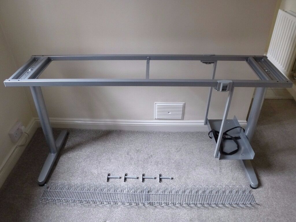 Ikea Galant 63 Office Desk Frame With Legs Cable Management Organizer Under