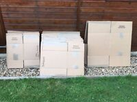 Cardboard boxes ideal for moving home
