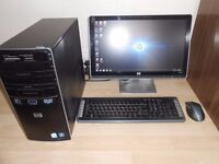 HP 1TB PC, WITH MONITOR . WINDOWS 10 FOR SALE