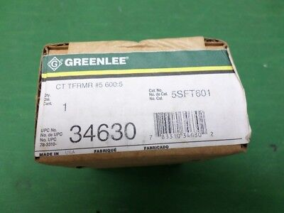 Greenlee 34630 Current Transformer 6005 5sft601 New In Box