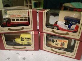 set of 7 model cars