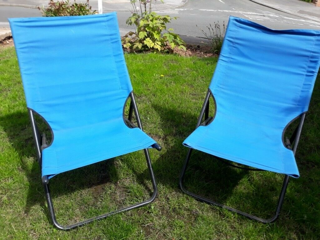 Super Modern Folding Blue Canvas And Metal Deck Chairs X 2 In Carlton Nottinghamshire Gumtree Gmtry Best Dining Table And Chair Ideas Images Gmtryco